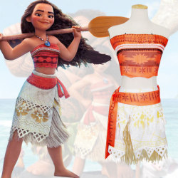 Girls Kids Moana Princess Fancy Dress Cosplay Kostymer Kläder 120cm
