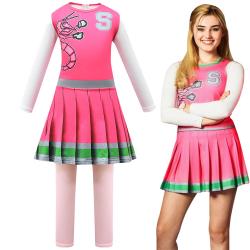 Disney Zombies 2 Cosplay Cheerleader Kid Girls Fancy Dress 150cm