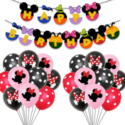 Grattis på födelsedagen Mickey Minnie Mouse Balloons Banners Bunting Mickey Mouse Theme2