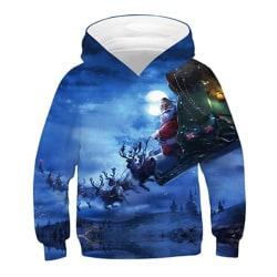 Glad jul barn varm tröja rock blue M