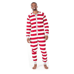 Hot Style Striped One-piece Christmas Parent-Child Suit Dad dad XL