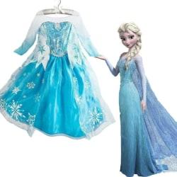 Kid Girl Elsa Fancy Dresses Party Cosplay Costume Princess Dress A 110cm