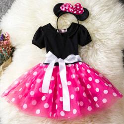 Kid Girl Minnie Mouse Pageant födelsedagsfest kostym Tutu klänning rose red 100cm