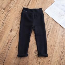 Kid Girls Casual Tights Bekväma byxor Mjuka byxor Leggings black 122-128cm