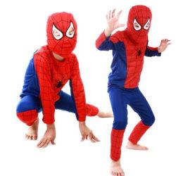 Barnpojkar Superhjälte Spiderman Cosplay Kostym Fancy Dress Set red&blue L