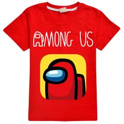 Barnpojkar Flickor bland oss T-shirt Impostor Crew Gaming Xmas Tops Red 11-12 Years