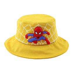Barnpojkar Spiderman Fisherman's Hat Cap Summer Travel Sunproof Yellow