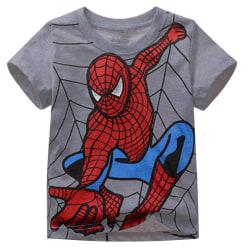 Baby Kids Pojkar Spiderman kortärmad T-shirt Grey 110 cm