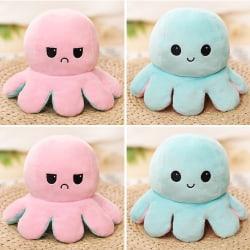 Dubbelsidig Flip Reversible Octopus Kid Plyschleksakgåva pink-light blue