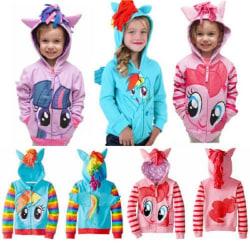 Barnflickor Hoodies My Little Pony Wing Coat Casual Sweatshirt Purple 0-12 Months