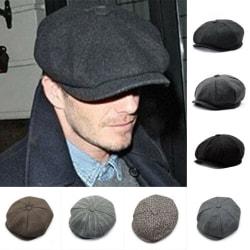 Herr Flat Hat Newsboy Cap Cabbie Peaky Blinders Baker Boy Hat black&dark grey