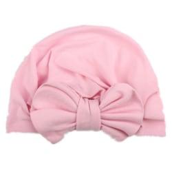 Nyfödd Småbarn Baby Knot Head Wrap Comfy Boys Girls Hat Cap Pink