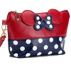 Polka Dot Travel Cosmetic Bag Case Pouch Clutch Bag Handbag Bag red