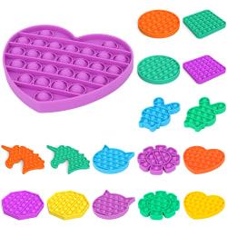 Pop It Fidget Toy-Flera färger Stress Sensorisk Kid Game Purple - Unicorn