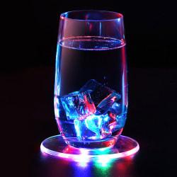 RGB LED Light Cup Pad Holder Drink Coaster Luminous Bar Decor color