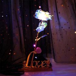 Rose Luminous Flower Valentine's Day Lovers 'Gift Love Base