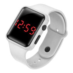 Fyrkantig digital klocka / Smart Watch armbandsur sportarmband white