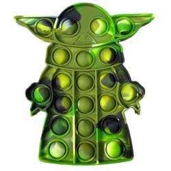 Star Wars Baby Yoda Pop It Fidget Toys Sensoriska Stressboll-leksaker Green