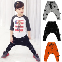 Småbarn Boy Star Printed Jogger Sweatpants 27 Years Grey 120 cm