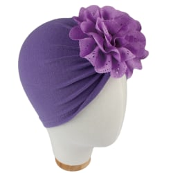 Småbarn Baby Bandana Head Scarf Cap Headband Hat Bather Purple