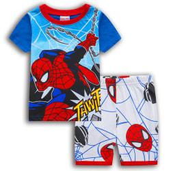 Småbarn Pojkar Spiderman Superhjälte Pyjamas T-shirt Shorts Blue&White 2-3 Years