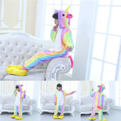 Unicorn Robe Kids Rompers Sleepwear rainbow 110 cm