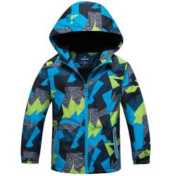 Boy Kids Fleece Winter Ski Snow Coat Barn Hoodie Windbreaker Camouflage 140cm