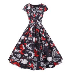 1950-talsklänning Retro Rockabilly Christmas Xmas Party Swing Dress JY14885 2XL