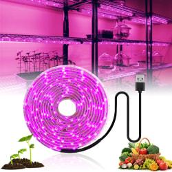 5V Lampor För Växter LED Strip rosa