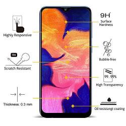 Heltäckande skärmskydd för Samsung A10 Transparent