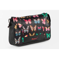 Svart necessär med fjärilar för smink till henne 29x19x8 cm