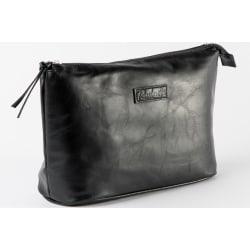 Klassisk svart necessär till henne i veganskinn svart 26,5x21x10 cm