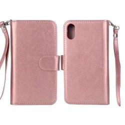 Plånboksfodral från FLOVEME till iPhone X/XS 9-KORT Roséguld