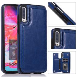 Skal med Kortfack - Samsung Galaxy A50 Mörkblå