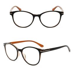 Vintage Stilrena Läsglasögon Brun 2.5