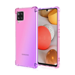 Samsung Galaxy A12 - Elegant Stötdämpande Floveme Silikonskal Rosa/Lila