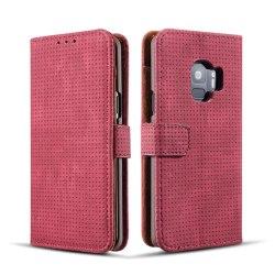 Samsung Galaxy S9 - Exklusivt Fodral Kort, Sedelfack Hög Kvalité Röd