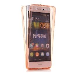 Huawei P9 Lite - CRYSTAL-Silikonfodral med TOUCHFUNKTION Genomskinlig