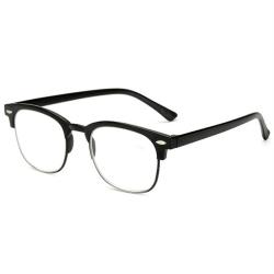 Effektfulla Smidiga Läsglasögon med Styrka +1.0-+4.0 Svart +4.0