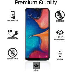 Samsung A10 2.5D Anti-Spy Skärmskydd 9H Screen-Fit svart Svart