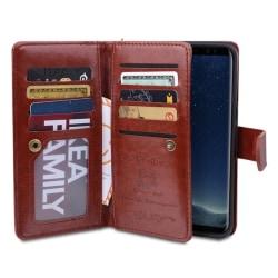 Plånboksfodral med 9 kortfack från ROYBEN Samsung Galaxy S8+ Röd