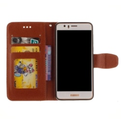 Huawei P10 - Stilrent Plånboksfodral från NKOBEE Svart