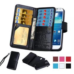 Elegant 9 kort Plånboksfodral för Samsung Galaxy S8 Svart