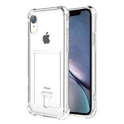 iPhone XR - Stötdämpande Floveme Skal med Korthållare Transparent/Genomskinlig