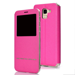 Elegant Smartfodral (LEMAN) - Samsung Galaxy J6 2018 Rosa Rosa