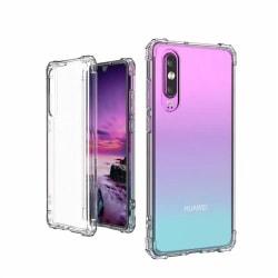 Extra Skyddande Silikonskal (Tjock kant) - Huawei P30 Transparent/Genomskinlig