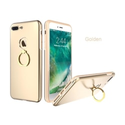 Elegant Stilsäkert iPhone 7 Plus skal med Ringhållare KISSCASE Guld