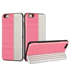 Elegant Skal med kortfack till iPhone 6/6S Plus Rosa Rosa