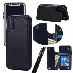 iPhone X/XS Flexibla Kortfodral Svart