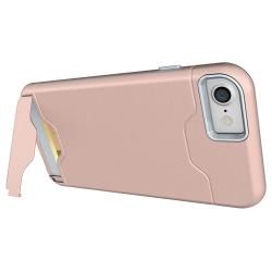 Jensen Skal med Kortfack - iPhone 8 Roséguld